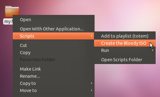 How to Create an ISO Disc Image from any Folder/File in Ubuntu?