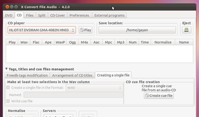 Powerful Audio Converter & Splitter for Ubuntu Linux - Xcfa