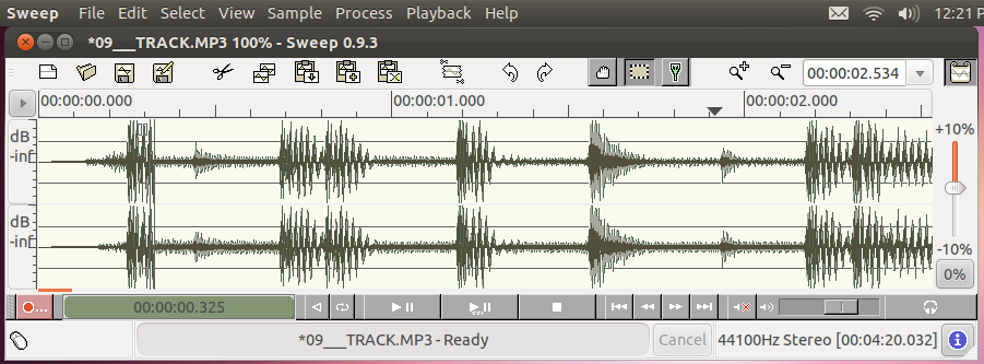 Audio Editor With Raw Support For Ubuntu Linux Sweep