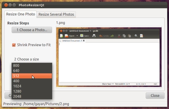 PhotoResizerQt-in-Ubuntu-11.10