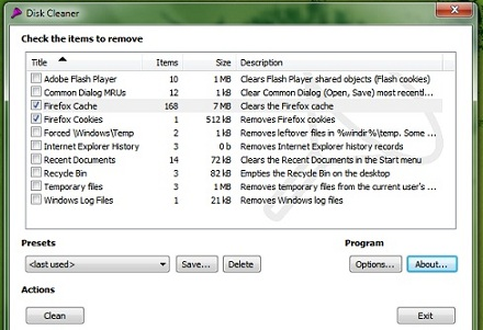 how to clear temp files in windows xp