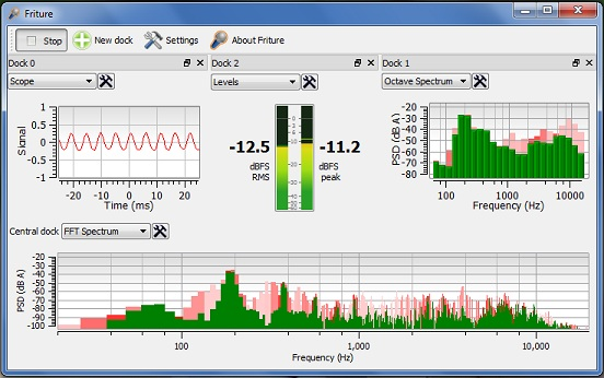Friture: Real-time Audio input Analyzer with built-in