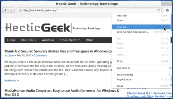 Web-the-default-web-browser-of-Gnome-3