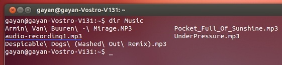 Locating-an-audio-file-in-the-Music-folder-using-dir-command