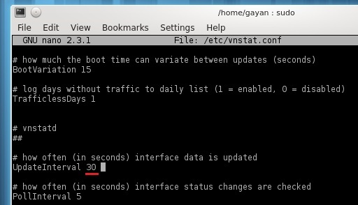 Changing-update-interval-of-vnstat