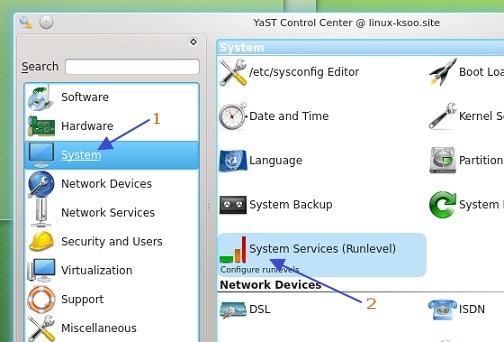 Entering-System-Service-editor-in-YaST