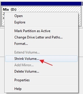 Accessing-shrink-volume-option-in-Windows-7