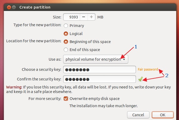 Entering-values-for-the-encrypted-main-partition