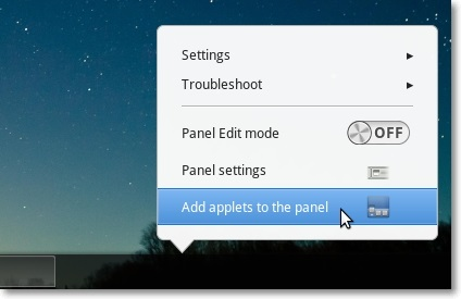 Add-applets-to-panel-option-in-Cinnamon-1.6