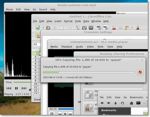 Running-multiple-applications-in-Linux-Mint-14-Cinnamon