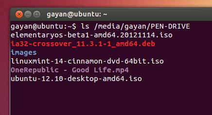 Listing-pendrives-content-using-Terminal-Ubuntu-12.10