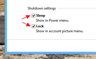 New 'Shutdown settings' windows after disabling hibernation - Windows 8