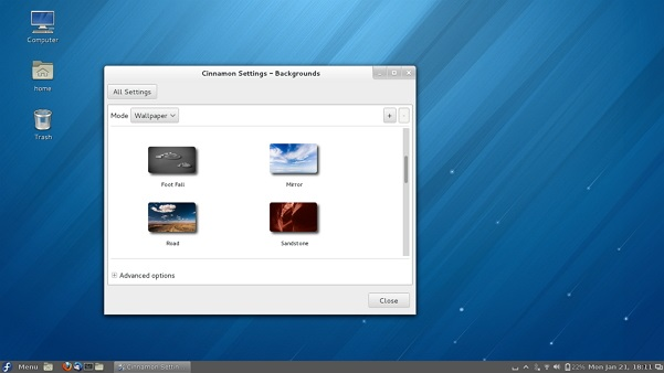 Cinnamon-desktop-running-on-Fedora-18