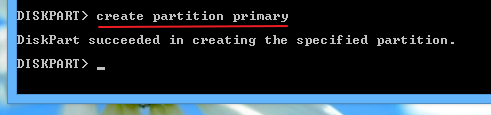 Creating-a-primary-partiton-on-the-USB-flash-drive-using-diskpart