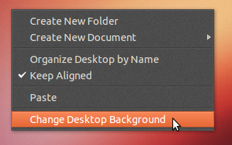 Desktop context menu - 'AmbianceP'