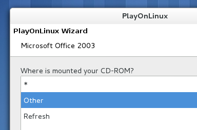 Installing MS Office 2003 using 'PlayOnLinux'