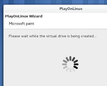 'PlayOnLinux' automatically creating a virtual drive for 'MS Paint'