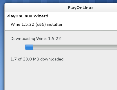 'PlayOnLinux' automatically downloading the necessary version of 'Wine'