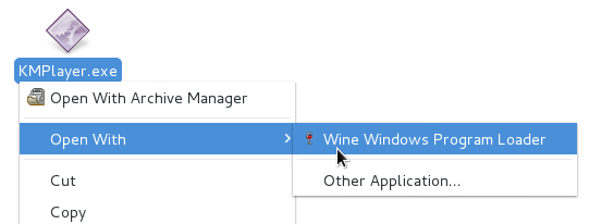 Running an '.exe' file using 'Wine' in Nautilus