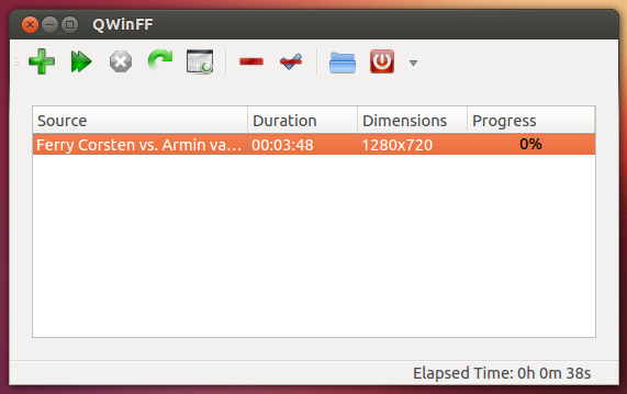 'QWinFF' running on Ubuntu 12.10