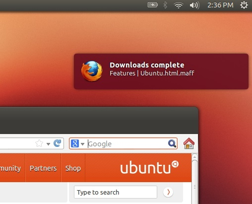 'GNotifier' running on Firefox 19 on Ubuntu 12.10