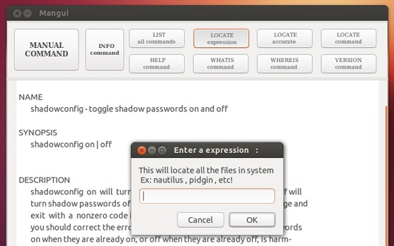 'Mangui' running on Ubuntu 12.10