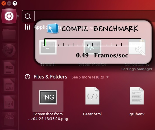 Idle 'FPS' for 'Compiz' while 'Dash' is opened - Ubuntu 12.10