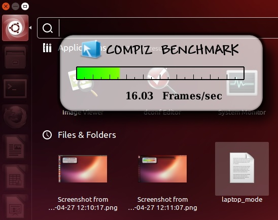 Idle 'FPS' of 'Compiz' while 'Dash' is opened - Ubuntu 13.04