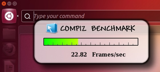 Idle FPS of 'Compiz' with 'HUD' opened - Ubuntu 12.10