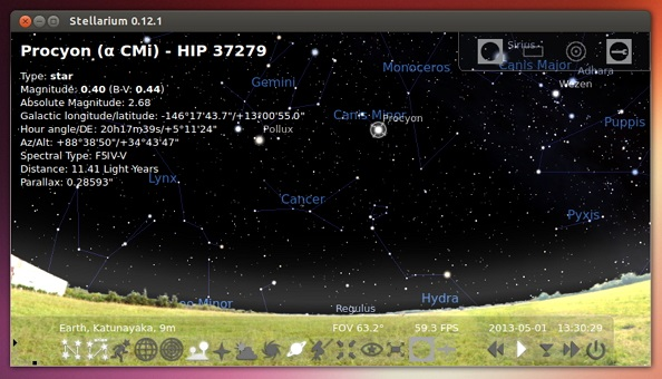 Stellarium-0.12.1-running-on-Ubuntu-13.04