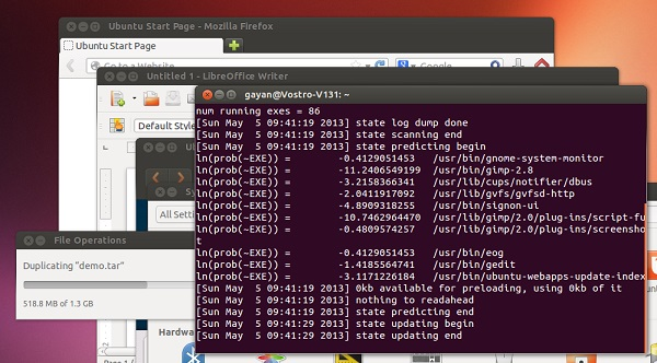 Testing responsivess with 'preload' - Ubuntu 13.04