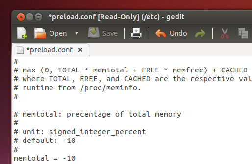 'preload' configuration file - Ubuntu 13.04