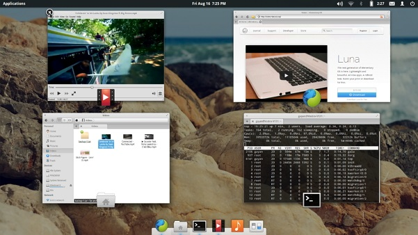 'Window Overview' feature of 'Pantheon' Desktop