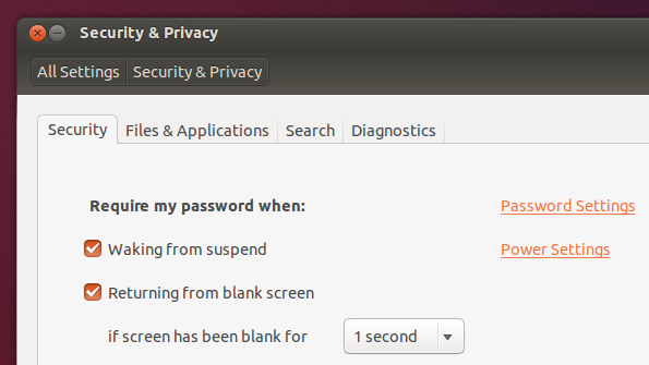 Enhanced 'Security & Privacy' settings manager - 13.10