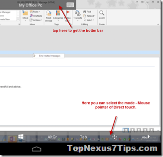 mouse pointer mode in RDP nexus 7
