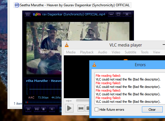 'PotPlayer' and VLC struggling while trying to play a video through 'ExtFS for Windows'
