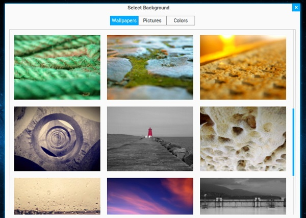 Some of the default wallpapers in 'Zorin OS 8'