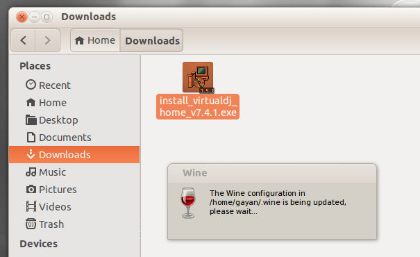Wine1.6's first time settings configurator (on Ubuntu 13.10)