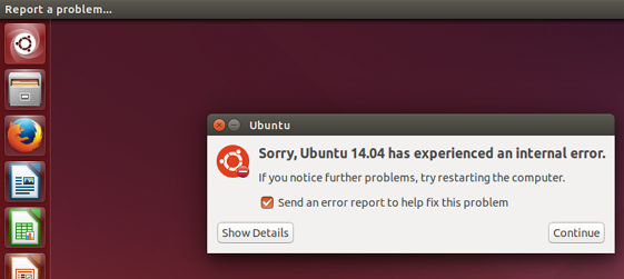 Error receieved on Ubuntu 14.04 LTS