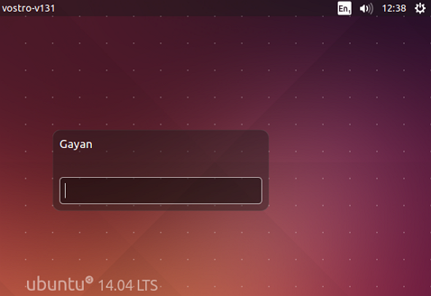 New lock-screen on Ubuntu 14