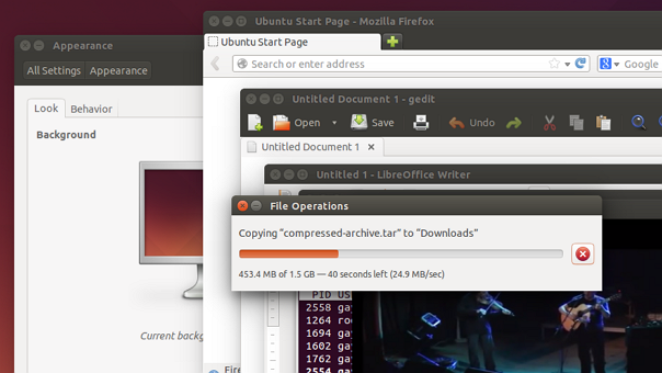 System responsiveness test on Ubuntu 14.04 LTS