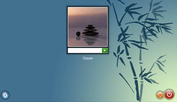 KDE login screen - OpenMandriva Lx 2014