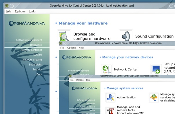 'OpenMandriva Lx 2014' Control center