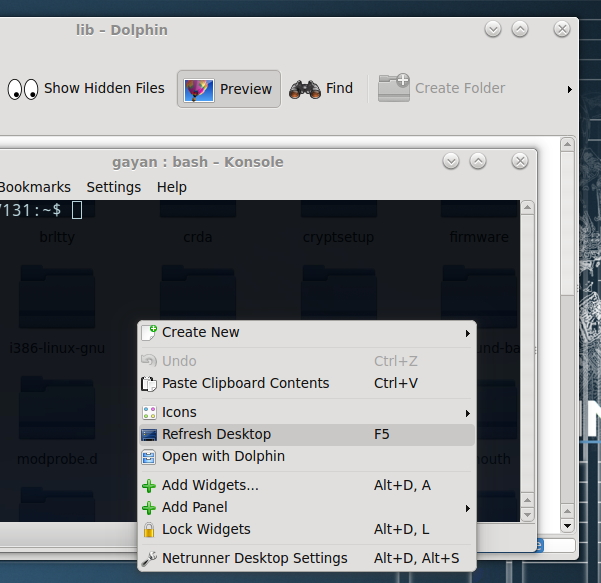 Default Qt-KDE theme in Netrunner 14