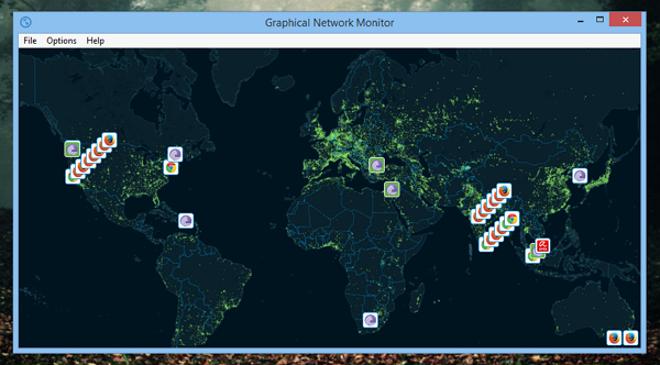 Windows Network Monitor : Graphically view how applications use your network its