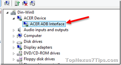 Since the Google Nexus 5 is nothing to do with ACER ADB interface in