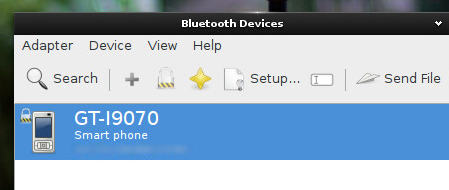 Bluetooth manager GUI in 'SparkyLinux 3.5' E18
