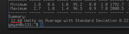 Power usage readings after adding 'TLP' in 'SparkyLinux 3.5' E 18