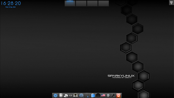 SparkyLinux 3.5 E18 Desktop with the original background