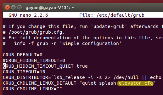 Change the Disk I/O Scheduler to 'CFQ' on Ubuntu 14 10 [How to]